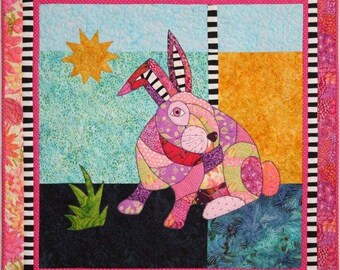 BJ Designs & Patterns McGregor Bunny Rabbit Applique Quilt Pattern