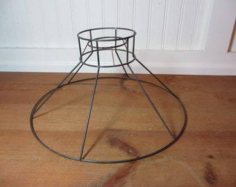 Lamp shade frame etsy vintage metal wire lamp shade frame bell hat lampshade frame aloadofball Image collections