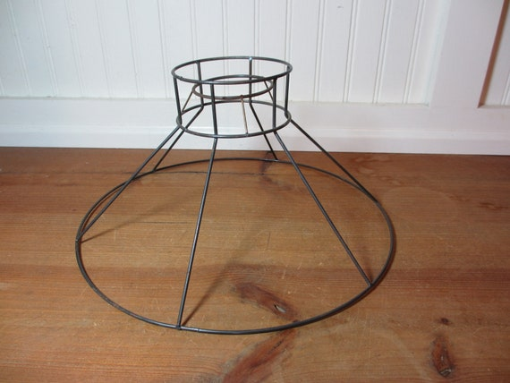 Vintage metal wire lamp shade frame bell hat lampshade frame greentooth Choice Image
