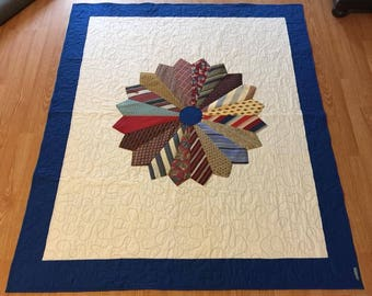 Custom made Tie Quilt - Choose your size!