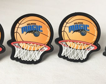 12 Orlando Magic Cupcake Rings NBA Basketball Toppers Party Favors