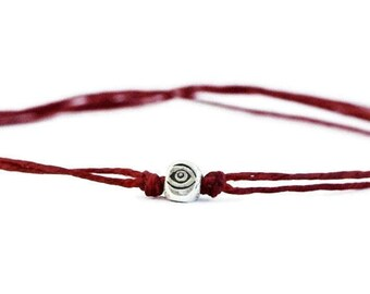 Evil Eye Bracelet / Red String Bracelet / Sterling Silver / Thread Bracelet / Adjustable Bracelet