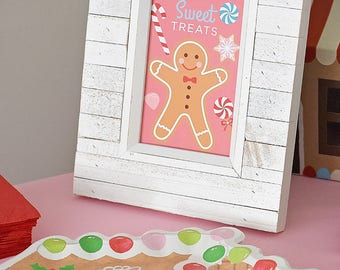 Gingerbread House Decorating Party Sweet Treats 4x6 Instant Download Printable PDF Sign, Holiday Kids, Christmas, Winter, Candy, Sweet