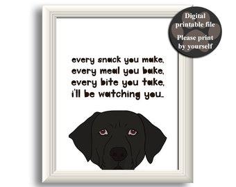 Black Labrador Art Print, Labrador wall art, Printable dog quote, Gift for dog lover, Black Lab Wall Art, Personalized dog art, Printable