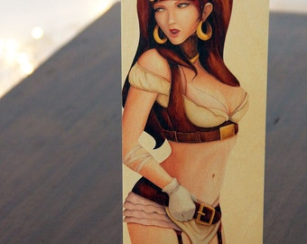 Balsa Wood Print : Steampunk Sweetie