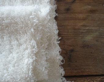 organic COTTON terry _ fabric by yard