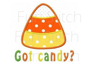 Candy corn got candy applique fall machine embroidery design