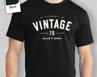 75th Birthday, 1943, 75th Birthday Gift, Vintage Whisky, Men's T-shirt,  75th Birthday Idea, 75 Birthday Present, 75 Birthday Gift!