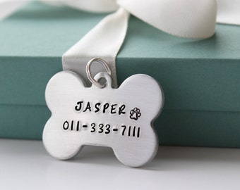 Personalized Dog ID Tag - Dog Bone Pet Tag Personalized - Custom Pet ID Tags - Pet Tags - Personalized Dog Tag -  Dog ID Tag - Dog Bone Tag