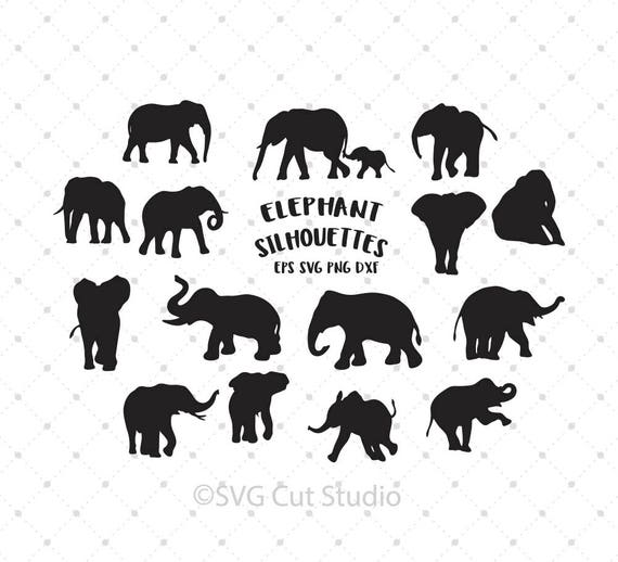 Download Elephant SVG Elephant Silhouette SVG Elephant cut files