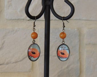 My pretty poppy earrings