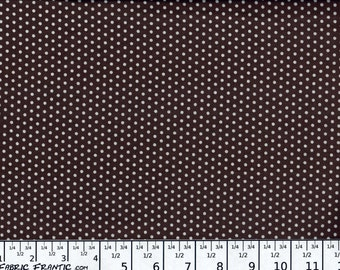Spot On fabric - tiny white dots on chocolate brown - Robert Kaufman - by the YARD