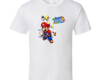 Super Mario Sunshine Nintendo Gamecube T Shirt