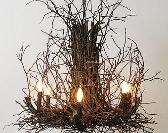 Rustic Twig Branch Chandelier Wish Designs USA
