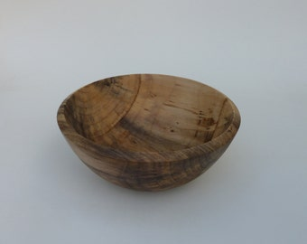 Wood Bowl Handturned Wooden Cottonwood Bowl Handmade