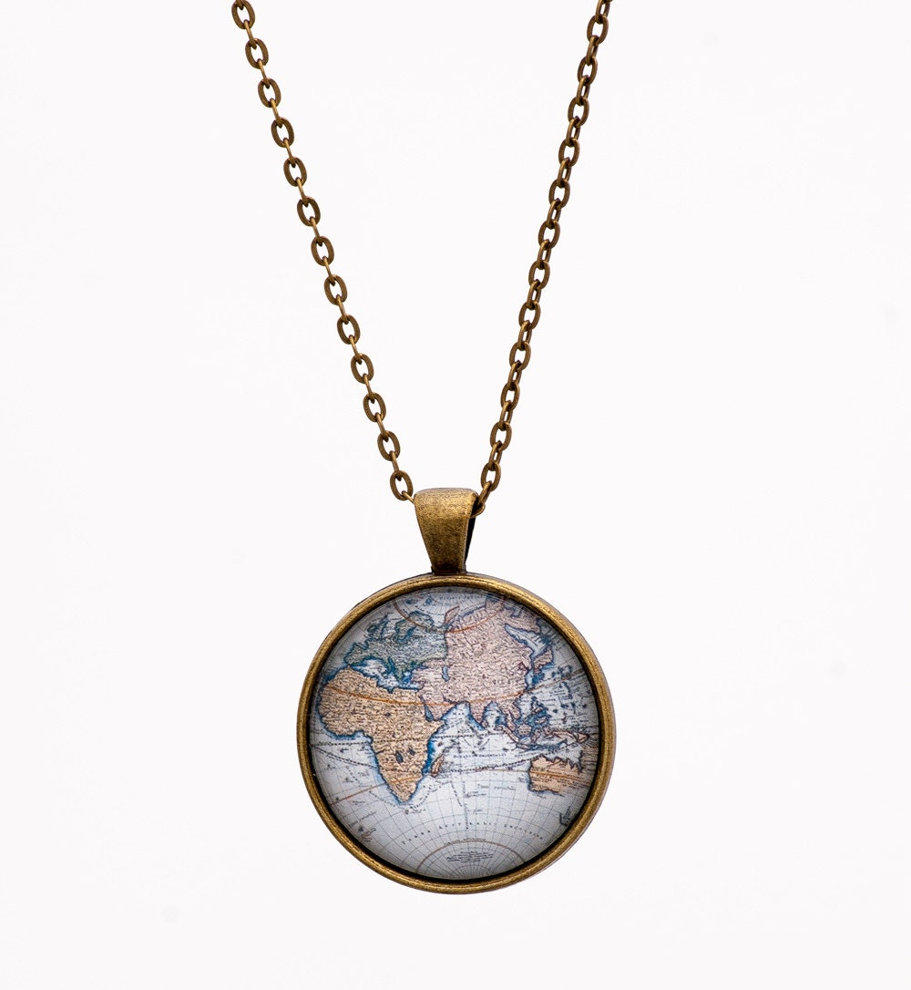fullxfull listing necklace pendant world zoom il map globe atlas ca