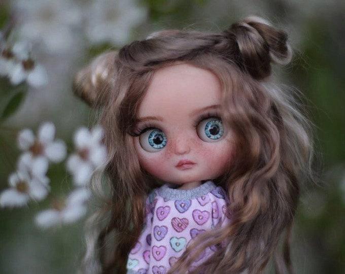May••ooak custom middie blythe with mohair weft hair