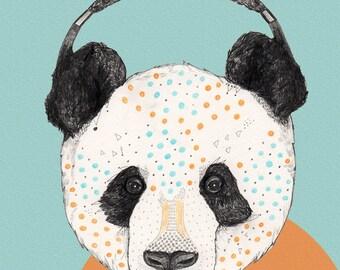 Polkadot Panda //  print 5x8 (A5)