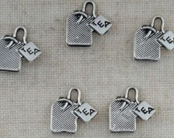 Tea Bag Charms x 5. Tea Charms.  Tea Lovers Charms. Tea Drinkers Charms. Tibetan Silver Tone. UK Seller