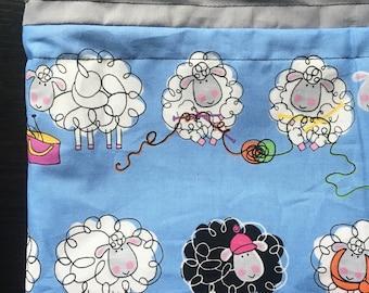 Knitting Sheep Medium Project Bag