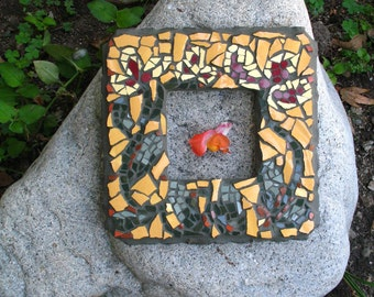 Mosaic Frame with Winding Flowers