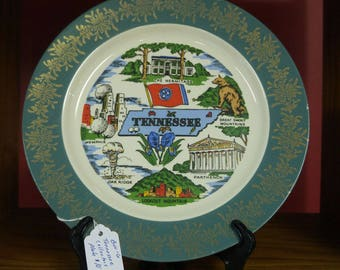 "10"" Tennesse Collectors Plate"
