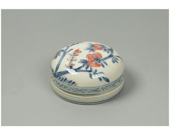 Free Shipping Chinese Calligraphy Ceramic Red Seal Ink Paste Mud Porcelain Bowl 7.7x3.5cm White Color 0072 Orientalartmaterial