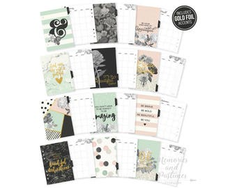 A5 Planner Inserts - Beautiful - A5 Planner Dividers - A5 Planner Pages - Monthly Inserts - Carpe Diem Beautiful Collection - 021712