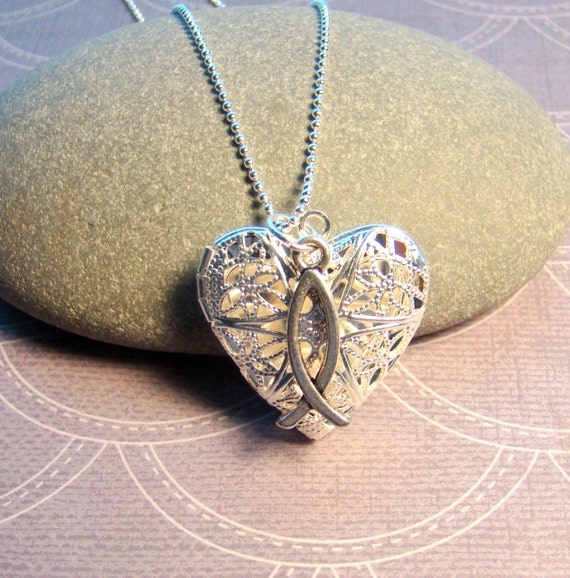 Faith Essential Oil Diffuser Necklace Heart Shaped Oil