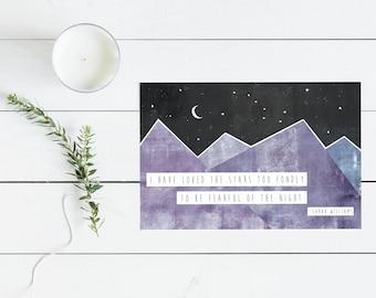 Stars Postcard