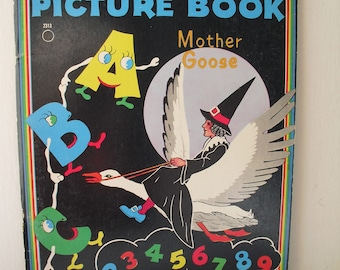 1961 Mother Goose Easy Steps Picture Book