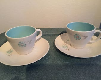 Daisy Cup and Saucer - Set of Two