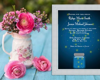 Twilight and Fireflies Wedding Invitation PRINTABLE / DIY