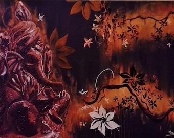 Blossom - Original Painting - TravelArt Ganesha