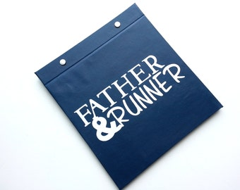 Race Bib Holder - Father & Runner - Hand-bound Book for Runners