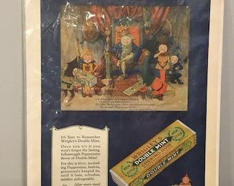 Vintage 1927 Wrigley's Doublemint Ad