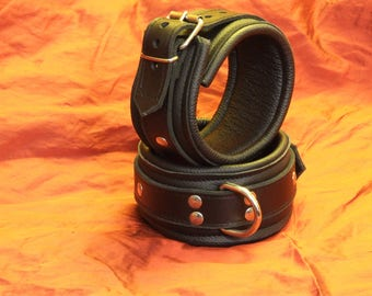Padded ankle Restraints Nappa, approx. 55 mm wide, Ecolinie, buckle closure