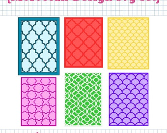 6 Moroccan Style Background SVG DXF Set