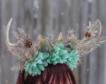 Deer Flower Crown Headband