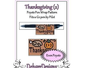 Bead Pattern Peyote(Pen Wrap/Cover)-Thanksgiving (2)