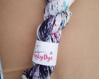 TinkyDye Merino/Nylon/Stellina Sparkle sock yarn 100g/400m