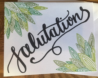 Greeting Card: 'Salutations'
