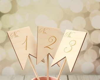 Banner Table Numbers Rustic Wedding Table Numbers Engraved Wedding Table Numbers Table Number Signs #DownInTheBoondocks