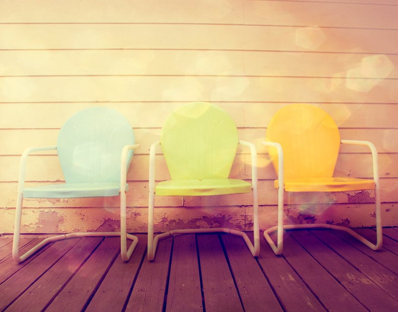 SALE 25% OFF Fine Art Photography Vintage Patio Chairs