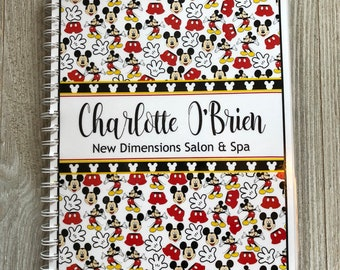 NEW!! Pre-Dated Design!!! Yearly Appointment Book with Income Tracking - Personalized - Fun Mickey Mouse Design