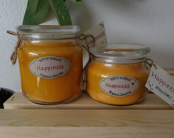 Happiness Organic Soy Wax Candle