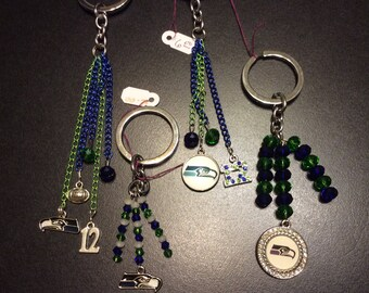 Seattle Seahawk Charms Key Chains