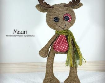 Mauri - Original Handmade Teddy/Moose/Reindeer/Toy/Collectable/Gift/Charm