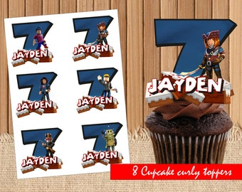 Digital Roblox Personal Cupcake Toppers