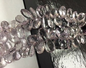 Pink Amethyst Pears Faceted